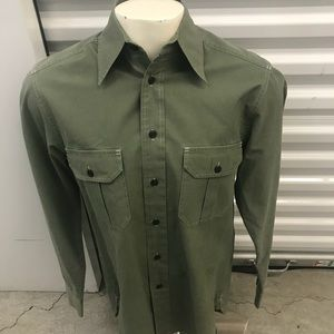 Lucky Brand Army Green Button Down Men's Size XS